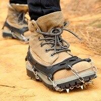 الشتاء المشي وتسلق الجليد الأشرطة سلاسل الثلوج للأحذية حذاء المسامير الجليد الجليد snow الجر الحذاء المرابط القابض المسامير