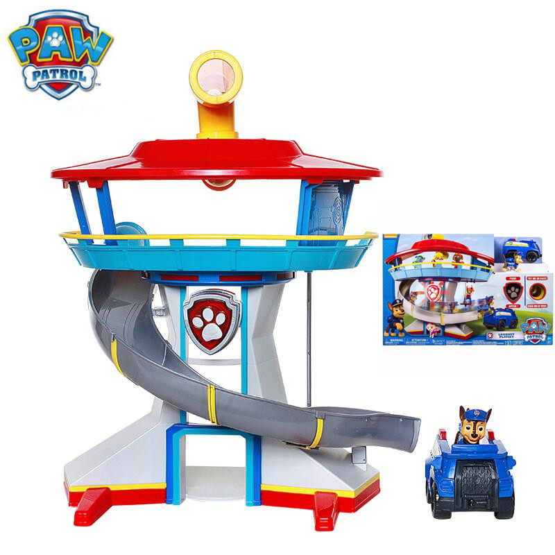Paw Patrol Dog Puppy Patrol Car Action Figures Patrulla Canina Car Parking Lot Toy Set Kids Toys Gifts Genuine original new electronic wristband patrol dogs kids paw toys patrulla canina toys puppy patrol dogs projection plastic wrist watch toys