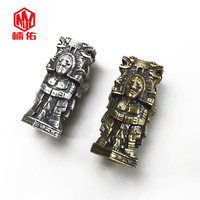 Maya Knife Beads Handmade DIY Copper Pendant Necklace Key Ring Personality Outdoor Creative EDC Jewelry Decoration