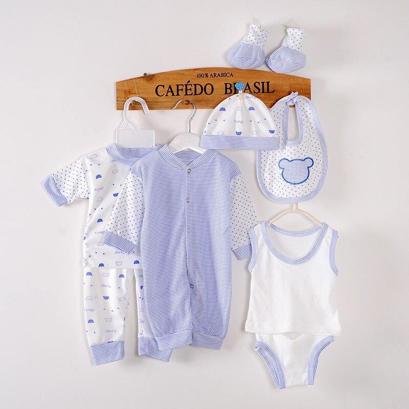 (8pcs/set) 2016 Newborn Baby Set 0-3M Baby Clothing Set Brand Baby Boy/Girl Clothes 100% Cotton Cartoon Underwear Cute Baby Suit