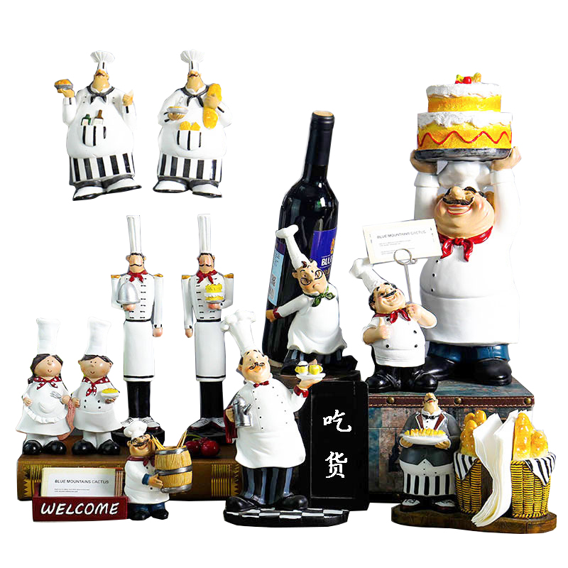 Creative Resin Handicraft Chef Figurines Furnishing Fashion Cook