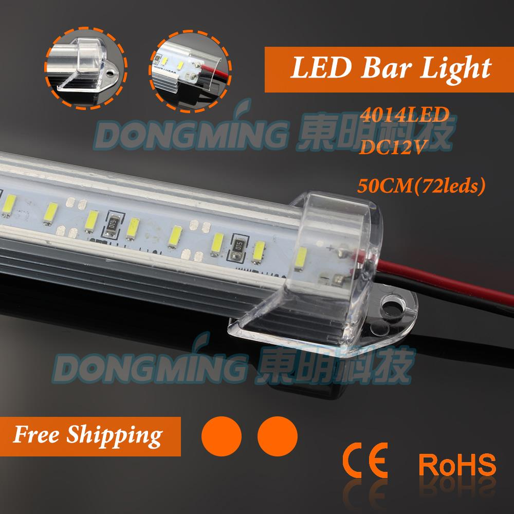 6pcs 50CM 12V SMD 4014 72 LED Hard Rigid LED Strip Bar