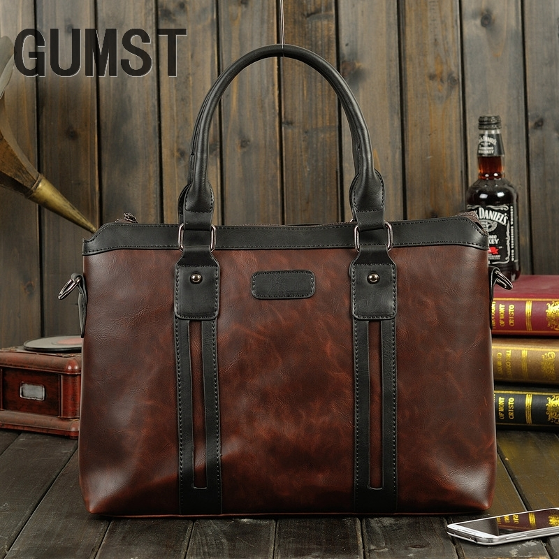 2019 New Arrival Famous Brand Business Men Briefcase Bag PU Leather Laptop Bag Briefcase Male PU Leather Shoulder Bags