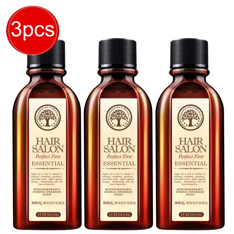 Bfaccia 3pcs/set Hair Care Essence Treatment Oil Argan Oil Keratin Free Clean Curly Hair Growth hair vitamins Care Mask