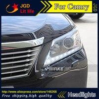 Бесплатная доставка! Автомобильный Стайлинг светодиодный HID Rio светодиодный фары передняя фара чехол для Toyota Camry 2012 Биксеноновые линзы ближ