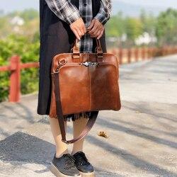Vintage Frauen Schulter Taschen Horizontale Literarischen Handtasche Multifunktions 14 Laptop Tasche Kleid OL Mode Ultra-dünne Aktentasche