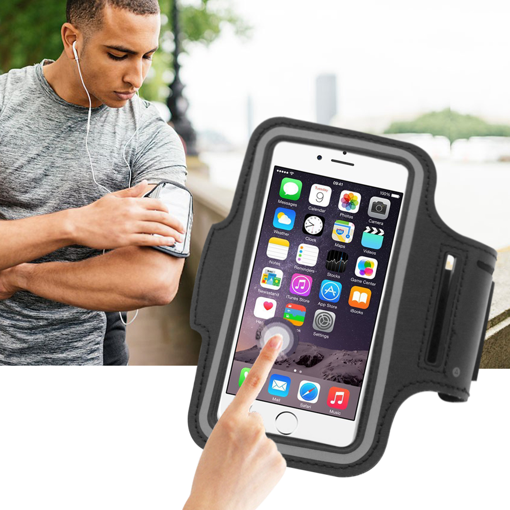Portable PU Sport Running Waterproof Smartphone Bags 5.5 Inch Mobile Phone Bag Pouch Belt Case For iPhone 5 6 Samsung
