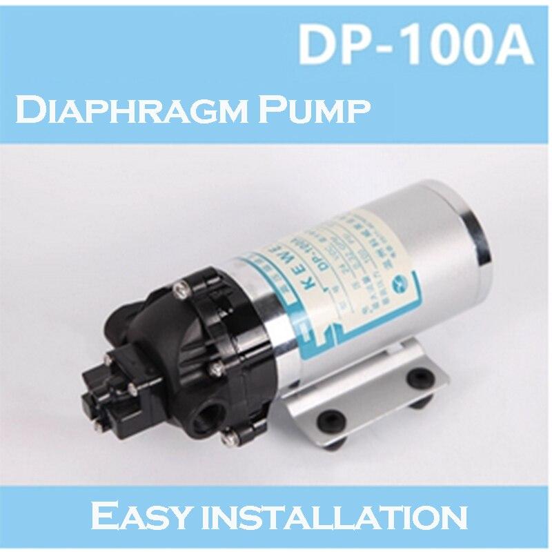 24V DC Electric Mini Diaphragm Pump Self-priming Booster pump for Garden Cooling Car Washer 1.1A 2015 new high performance dp 150 150psi 40w 24v dc pump self priming pump washing car diaphragm pump