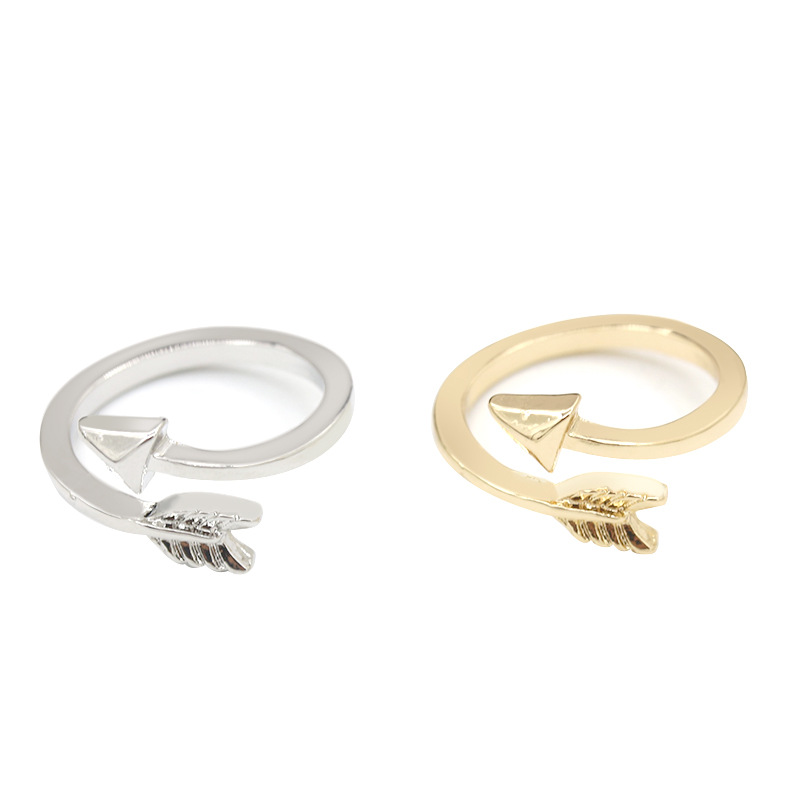 Arrow rings for women open ring adjustable gold silver for Jewelry storm arrow ring