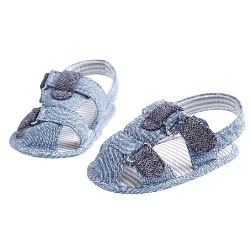 b02ab849e9b20 Tissu d été bébé sandales Denim bleu semelles souples anti dérapant enfant  garçon sandales bébé sandales bébé garçon chaussures dans Sandales de Mère  et ...