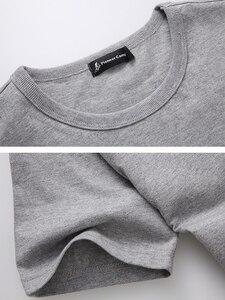 Image 5 - Pioneer Camp 5pcs Simple tshirt Creative Design Line Solid 100% Cotton T Shirts Mens New Arrival Short Sleeve Men t shirt 2020