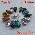 De calidad superior diferentes colores 8 x 13 mm 10 unids/lote gotitas Pointback piedras cristales a granel DIY caja del teléfono