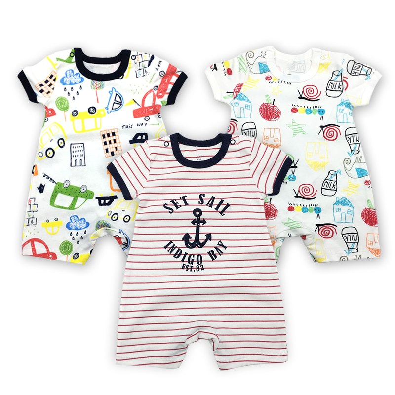 Newborn Infant Baby Girl Short Sleeve Cartoon One-piece Romper Bodysuit Jumpsuit
