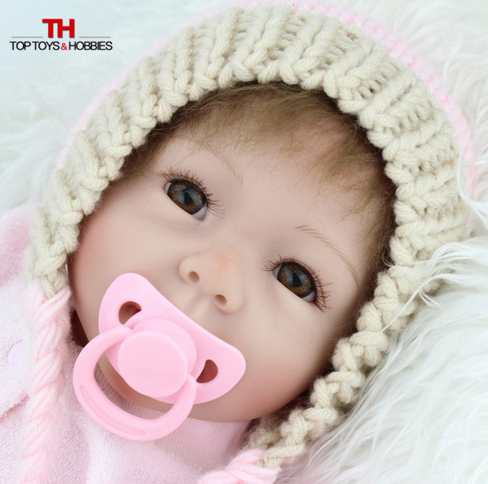 55cm Silicone Vinyl Reborn Baby Doll Toy Lifelike Pink Princess New born Toddler Doll-Reborn Girl Child Brithday Gift Brinquedos lifelike american 18 inches girl doll prices toy for children vinyl princess doll toys girl newest design