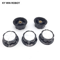 potentiometer knob 2pcs/lot MF-A05 A05 Potentiometer Knob Cap Inner 6mm 45x20mm Rotary Switch Bakelite Knob copper core inner for WHT118 WX050 (5)