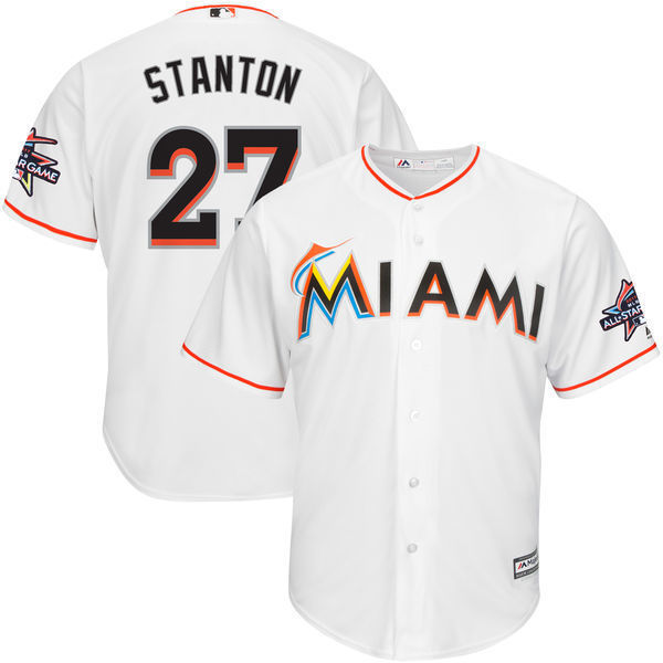 MLB Men's Miami Marlins Giancarlo Stanton Baseball White Home Cool Base  Player Jersey with 2017 All Star Game Patch-in Baseball Jerseys from Sports  ...