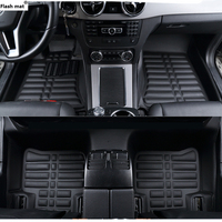 Flash mat car floor mats for Volkswagen for touareg passat polo golf tiguan touran bora Sagitar Magotan Teramont mats foot mats