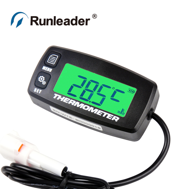 Runleader  RL-TS001 PT100 -20 +300 TEMP sensor thermometer temperature meter for motorcycle traffic crane paramotor outboard ATV