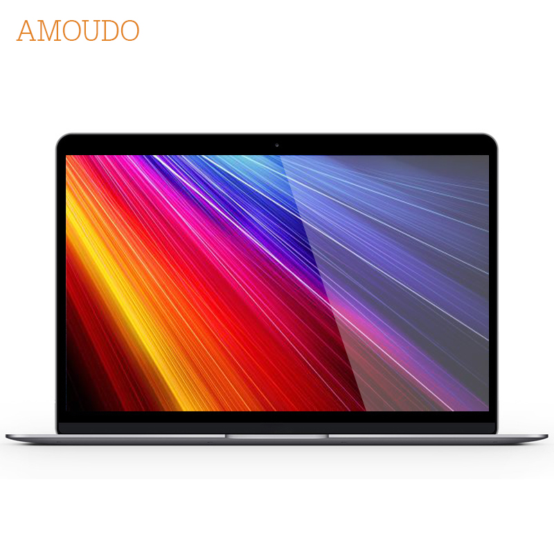 Amoudo 14 inch 4GB+256GB Windows 10 System Gigabit Ethernet and Dual Graphics Card Ultrathin Metal Game Laptop Notebook Computer