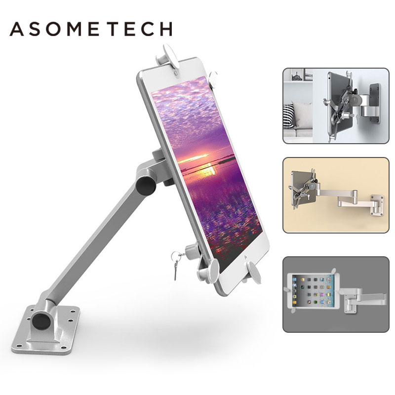 Anti-Theft Wall Mount holder Stand For iPad air 1 pro 9.7 retractable holder brace specialized For iphone Mount Display Supports цена