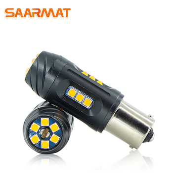 SAARMAT 2 * LED CANBUS No error 1156 ba15s P21W 7506 1156PY bau15s PY21W 7507 T20 WY21W 7440 7444 W21W de señal de vuelta de luz del coche de la lámpara