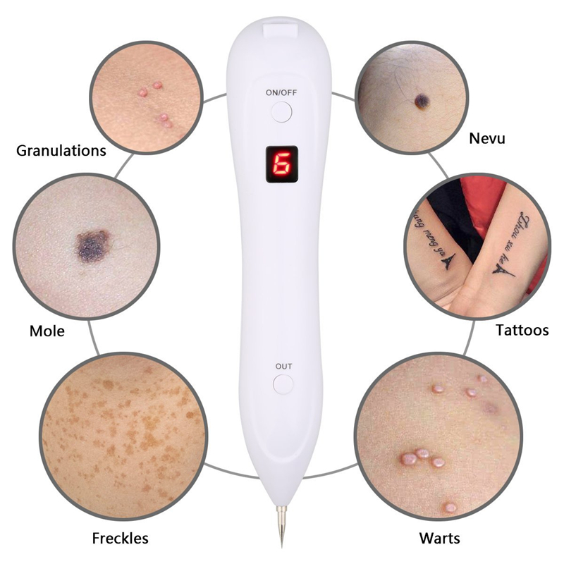 Beauty Laster 6 LED Level Freckle Removal Pen Skin Mole For Face Removal Dark Spot Removal Machine Electric Mole Instrument in Personal Care Appliance Accessories from Home Appliances