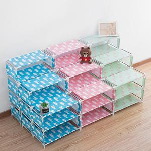 3/4/5 Layer Non-woven Shoe Rack Shoes Self Home Flamingo Printed Shoemaker Shoe Organizer For Living Room Bedroom