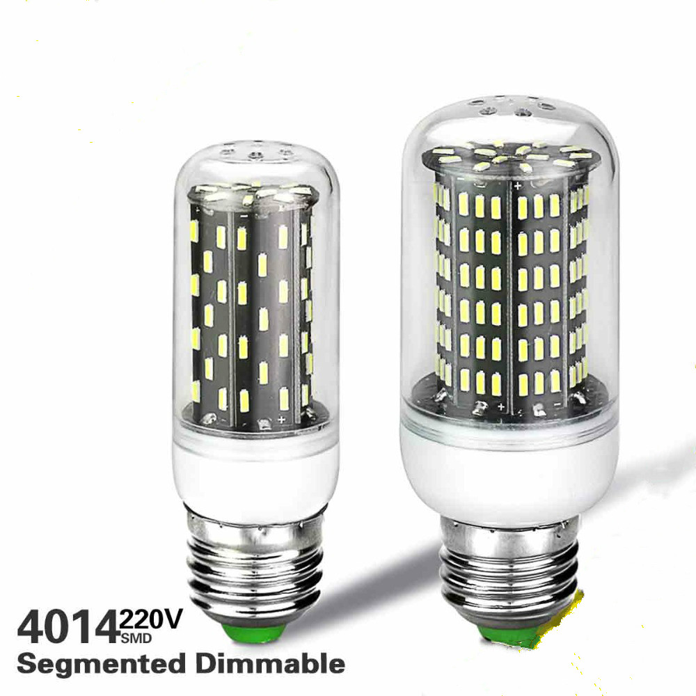 Ampoule Led Dimmable Aliexpress Buy Dimmable E27 E14 4014 Smd Led Lamp 220v Lampara Led Corn Bulb Ampoule Led Spotlight Leds Lamps Segmented Dimming Light From