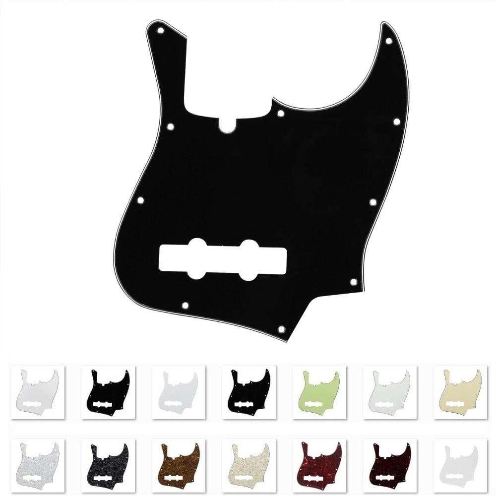 FLEOR 1PCS USA 10 Holes Jazz JB Bass Guitar Pickguard Scratch Plate Bass Pickguard 4 String Bass Guitar Accessories