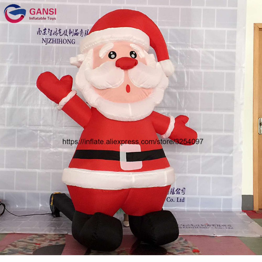 New design toys 2m height inflatable santa claus for christmas decoration