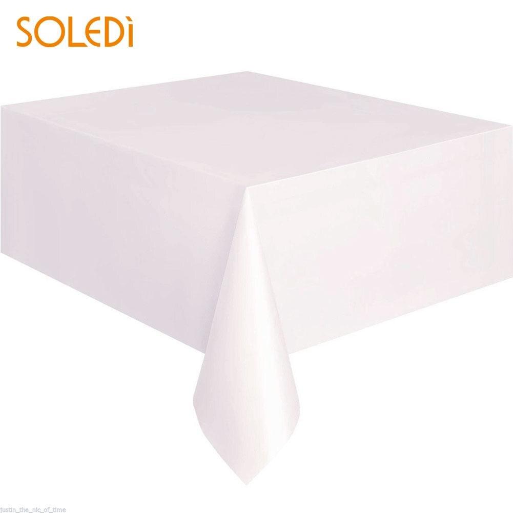 SOLEDI 20 цветов мягкий настольный бегун скатерть пластиковые товары для дома одноразовая скатерть для стола украшение стола - Цвет: beige