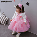 2017 Spring Summer New Baby Cotton Dress Hundred Days Infant Dress 0-3 Years Princess Girls Dress Color Pink