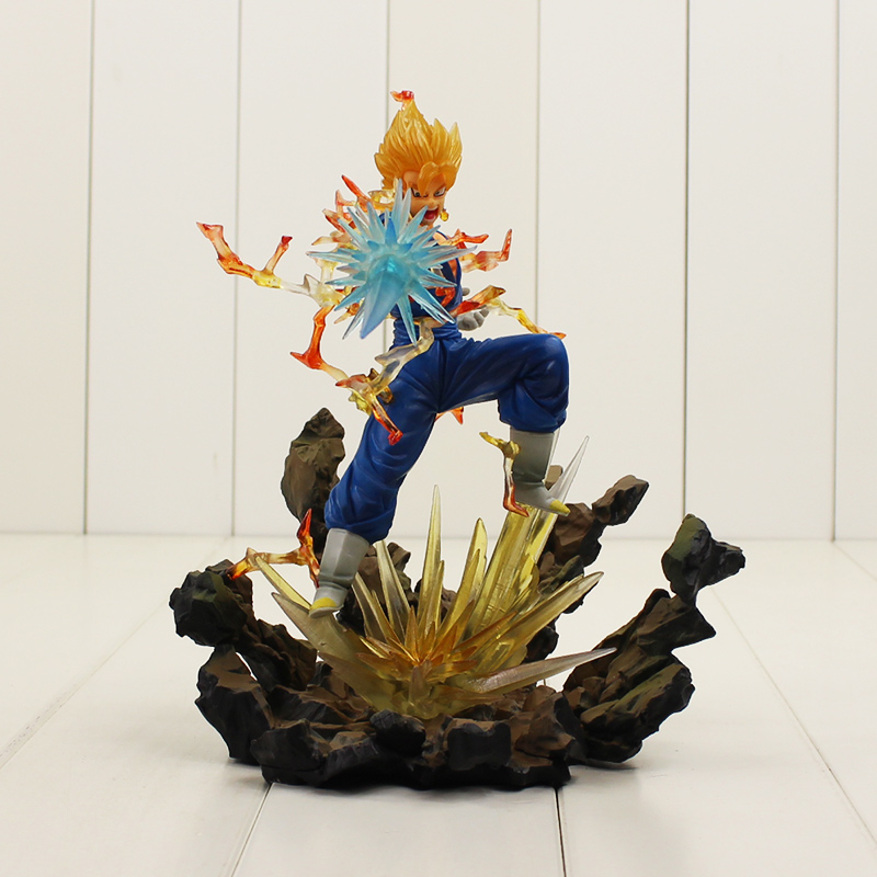 21 cm Dragon Ball Z Super Saiyan Son Goku végétto végéta onde de choc shougekiha PVC figurine modèle jouet pour amis cadeau