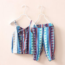 Summer 2016 Baby Girls Clothing Sets Infant Vest and Pants Kids Outfit Children Suits for Girls Cute Cotton Girls Clothing Sets