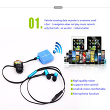 Desxz Wireless Sport Clip Headset Earphones Headphone Running Bluetooth Receiver with Microphone for Mobile Phone iPhone airpods