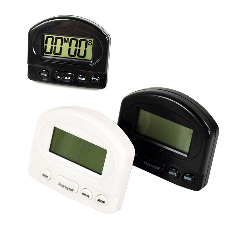 Black White Digital LCD Kitchen Cooking Timer 99 Minute Clock Sport Countdown font b Calculator b