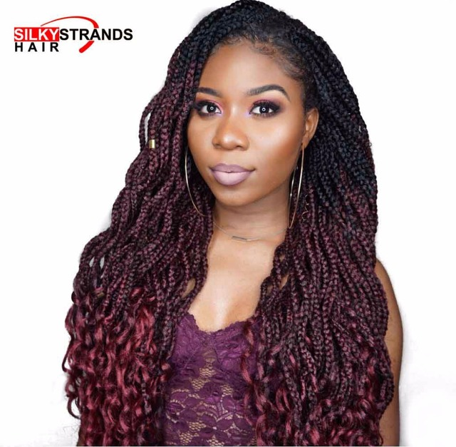 silky strands goddess box braids crochet hair extensions
