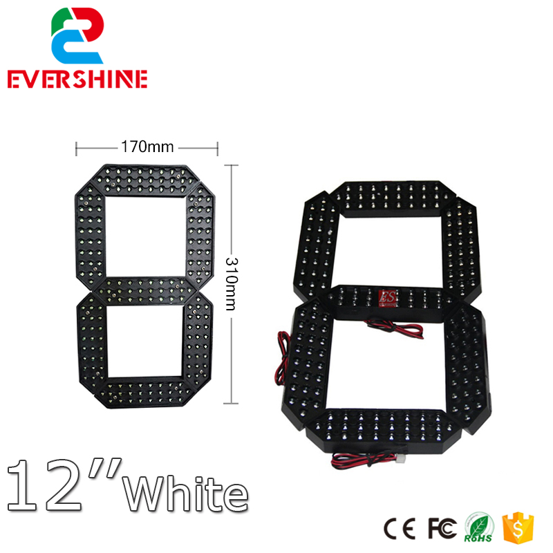 12 inch segment number gas station Outdoor Ultra Brightness white Large digital led module display 100 pcs ld 3361ag 3 digit 0 36 green 7 segment led display common cathode
