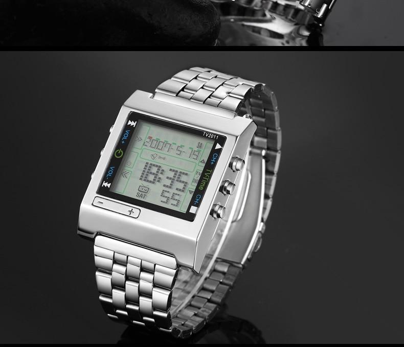 Topdudes.com - TVG Men's LED Quartz Digital Waterproof Smart Wrist Watch