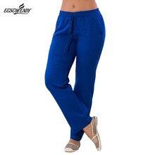 L-6XL 2018 Spring Summer Pants Large Size Women Long Pants Elastic Waist Drawstring Straight Pants Chiffon Casual Ladies Pants
