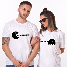 T Shirt Couple Clothes TShirt Pacman Husband and Wife T-shirt Graphic Funny shirts Valentine Wedding Gift for
