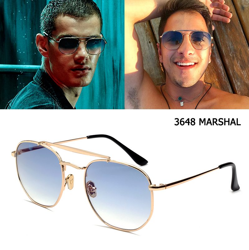 JackJad 2020 Fashion Polygon Metal Style 3648 MARSHAL Sunglasses Unisex Vintage Classic Brand Design Sun Glasses Oculos De Sol