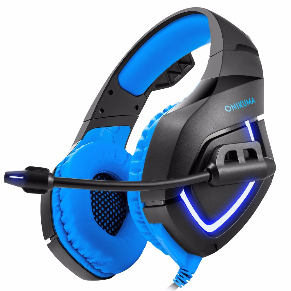 ONIKUMA PS4 gaming Headphone Deep Bass Stereo Headset Game Earphone Casque with soft Bendable Microphone for PC new Xbox Phone