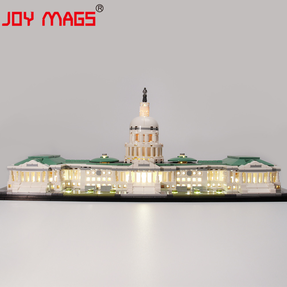 JOY MAGS Only Led Light Kit For Architecture United States Capitol Lighting Set Compatible With 21030 (NOT Include Model)