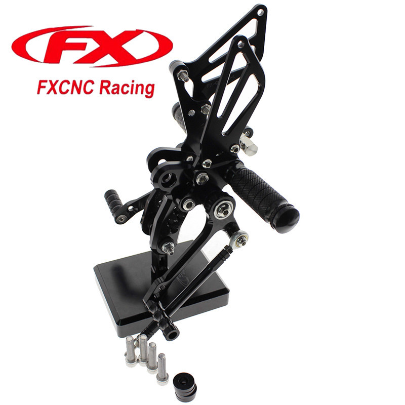 FX CNC Aluminum Adjustable Motorcycle Rearsets Rear Set Foot Pegs Pedal Footrest For SUZUKI GSX1300R HAYABUSA 1999 - 2012 2011 free shipping motorcycle dark grey cnc rearsets foot pegs rear set for suzuki sv650 sv650s motorcycle foot pegs