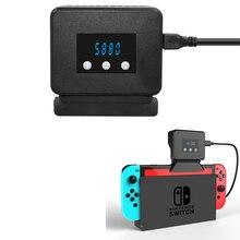 Nintendo Switch Base de radiador para Nintendo Switch, ventilador enfriador con pantalla de temperatura, disipador de calor