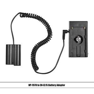"""Image 3 - Andoer NP F970 à NP FW50/EN EL15/LP E6 câble de ressort dadaptateur de plaque de montage de batterie factice avec vis de 1/4"""""""