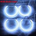 RGB Angel Eyes Cotton Light LED Light DRL Turn Light For Car Headlights - One set