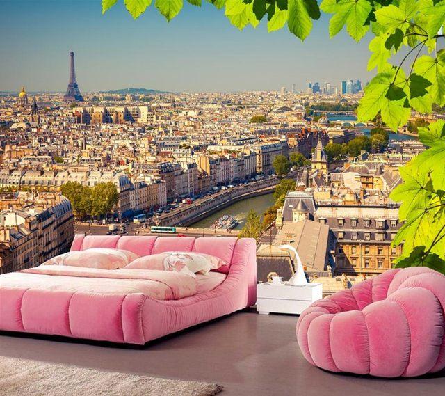 Tapeten Frankreich shop benutzerdefinierte 3d wandbilder frankreich häuser