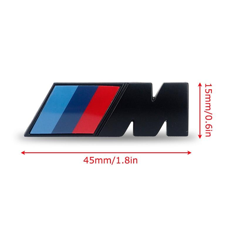 gro handel 2 x 3d m logo auto aufkleber universal f r bmw. Black Bedroom Furniture Sets. Home Design Ideas